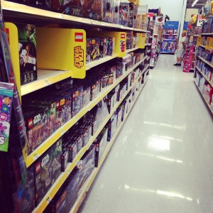 Here was one of my visits to the toy aisle at Walmart (without the kids).