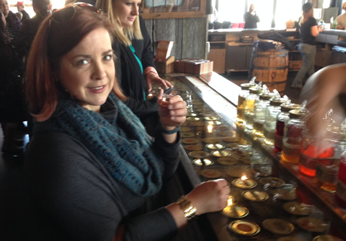 Mary and I sampled some of Tennessee's finest moonshine.