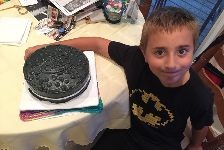 Here's Camden with his OREO birthday cake (made by my lovely wife).