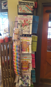 Cracker Barrel has a whole display for adult coloring books.